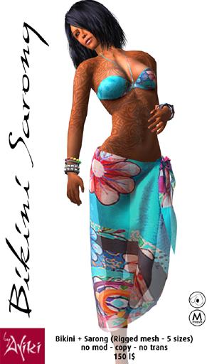 Bikini and sarong #08
